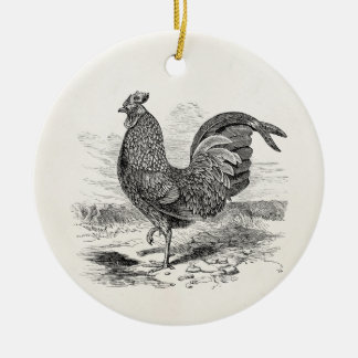 Vintage Kulm Fowl Rooster Chicken - Chickens Hen Christmas Ornament