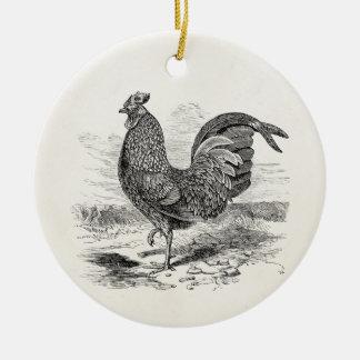 Vintage Kulm Fowl Rooster Chicken - Chickens Hen Round Ceramic Decoration