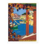 Vintage La Cote D'azur Post Card