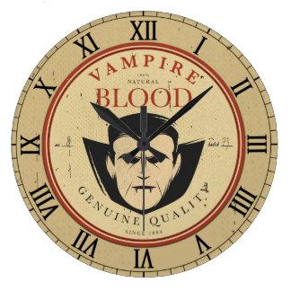 Vintage Label Halloween Vampire Wall Clock