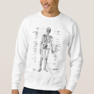 Vintage - Labeled Skeleton - Front & Back Views Sweatshirt