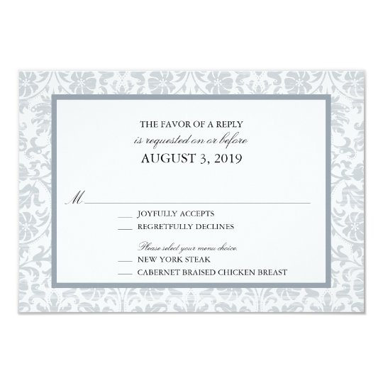 Vintage Lace Affair  RSVP Card