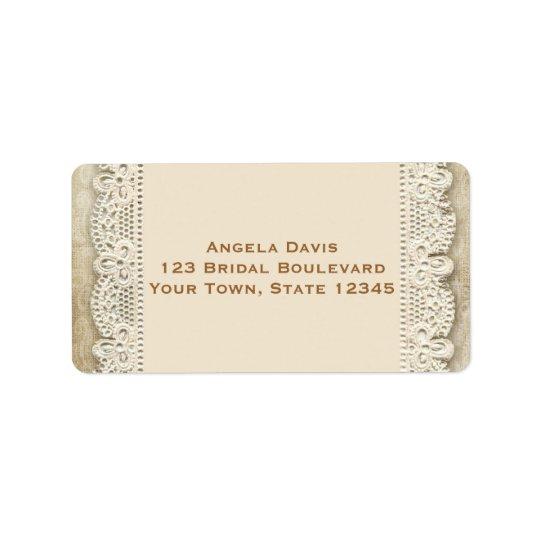 Vintage Lace and Damask Wedding Address Label