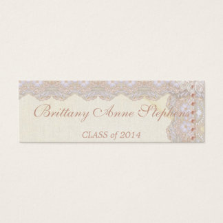 Vintage Lace and Pearls Graduation Name Insert