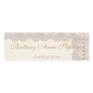 Vintage Lace and Pearls Graduation Name Insert Pack Of Skinny Business Cards