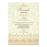 Vintage Lace & Damask Brocade Sweet 16 Invitation