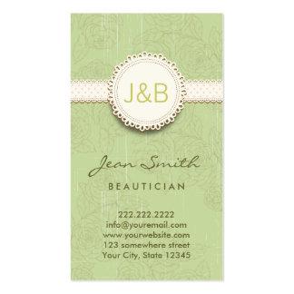 Vintage Lace Floral Beautician Business Card