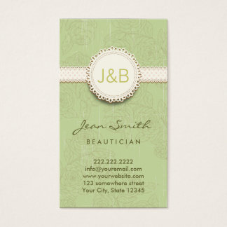 Vintage Lace Floral Beautician Business Card