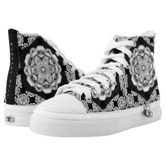 Vintage Lace High Tops Printed Shoes