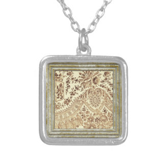 Vintage Lace In Browns Silver Plated Necklace