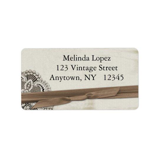 Vintage Lace Label