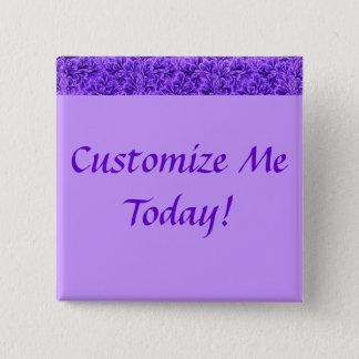 Vintage Lace Leaf Purple 15 Cm Square Badge