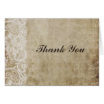 Vintage Lace Old World Thank You Card
