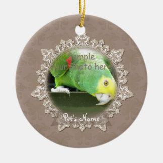 Vintage Lace Pet Bird Memorial Ornament