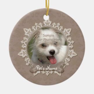 Vintage Lace Pet Memorial Ornament
