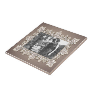Vintage Lace  Photo Template Tile