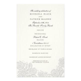 Vintage Lace Wedding Programs 14 Cm X 21.5 Cm Flyer