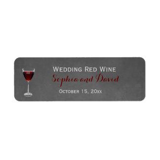 Vintage Lace Winery Wedding Wine Return Address Label