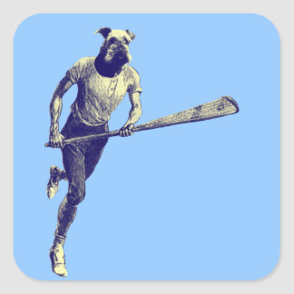 Vintage Lacrosse Airedale Square Sticker