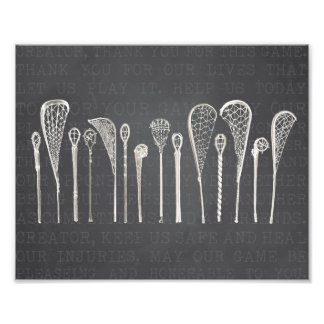 Vintage Lacrosse Sticks Photographic Print