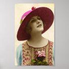 Vintage Ladies 20's Flapper Hat Art Print