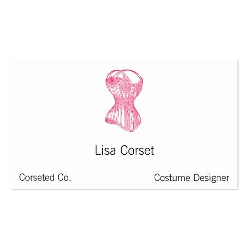 Vintage Ladies Corset Business Cards