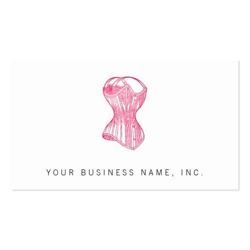 Vintage Ladies Corset Business Card Template