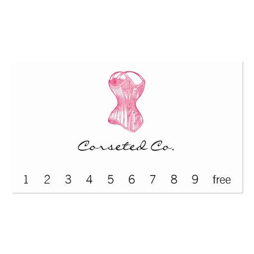 Vintage Ladies Corset Business Card Templates