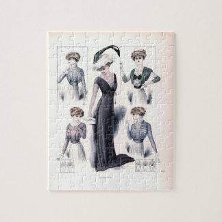Vintage ladies fashion puzzle