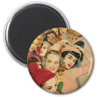 Vintage Ladies - Friends Edition Magnet