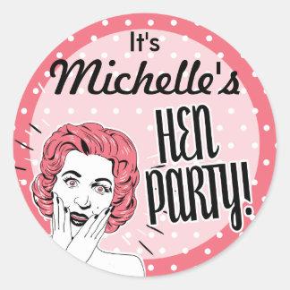 Vintage Ladies Hen Party Stickers