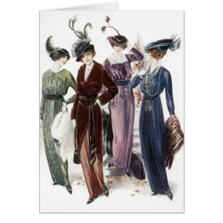 Vintage Ladies Women Night on the Town Invite Card