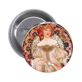 Vintage lady 6 cm round badge