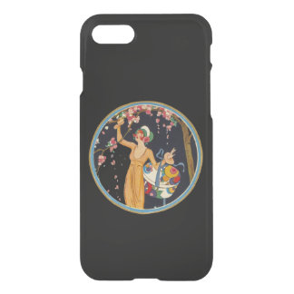 Vintage Lady Cherry Blossom Tree Hat Box iPhone 7 Case