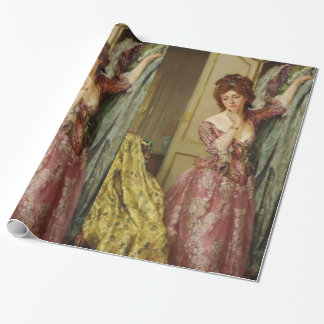 Vintage Lady Closet Party Wrapping Paper