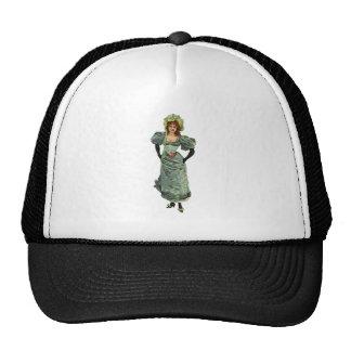 Vintage Lady ~ Fashion Illustration Mesh Hat
