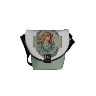 Vintage Lady Graphic Courier Bag