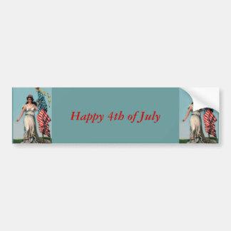 Vintage Lady Liberty Bumper Sticker
