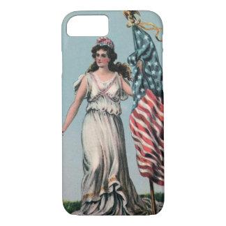 Vintage Lady Liberty iPhone 7 Case