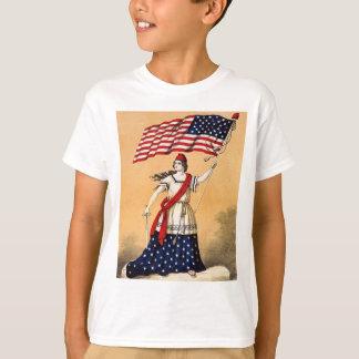 vintage lady liberty t-shirts