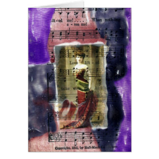 Vintage Lady Mixed Media Collage Cards