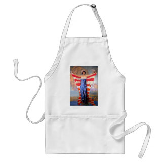Vintage Lady of Liberty Patriotic American Flag Standard Apron