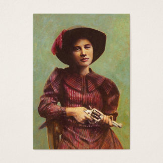 Vintage Lady Outlaw ACEO Buusiness Card