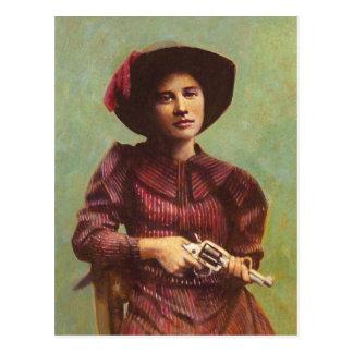 Vintage Lady Outlaw Postcard