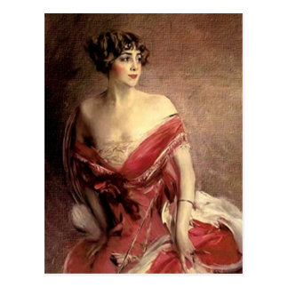 Vintage Lady Portrait - Boldini Postcard