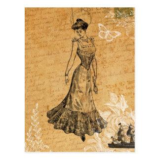 Vintage Lady Postcard