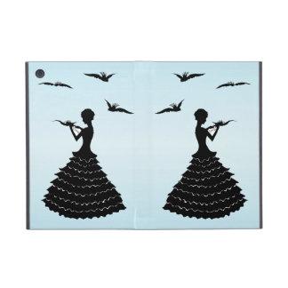 Vintage Lady Silhouette Love Letter Doves iPad Mini Case