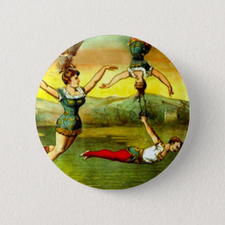 Vintage Lady Trapeze Acrobat Circus Act Poster Art 6 Cm Round Badge