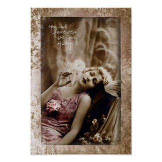Vintage Lady You will Forever be my Always Poster