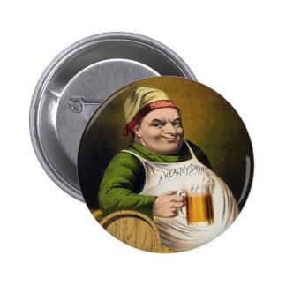 Vintage Lager Beer Advertisement 6 Cm Round Badge